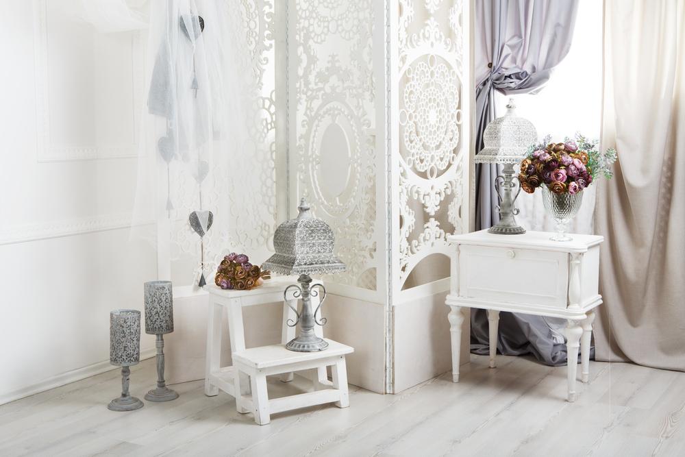 warna putih desain shabby chic
