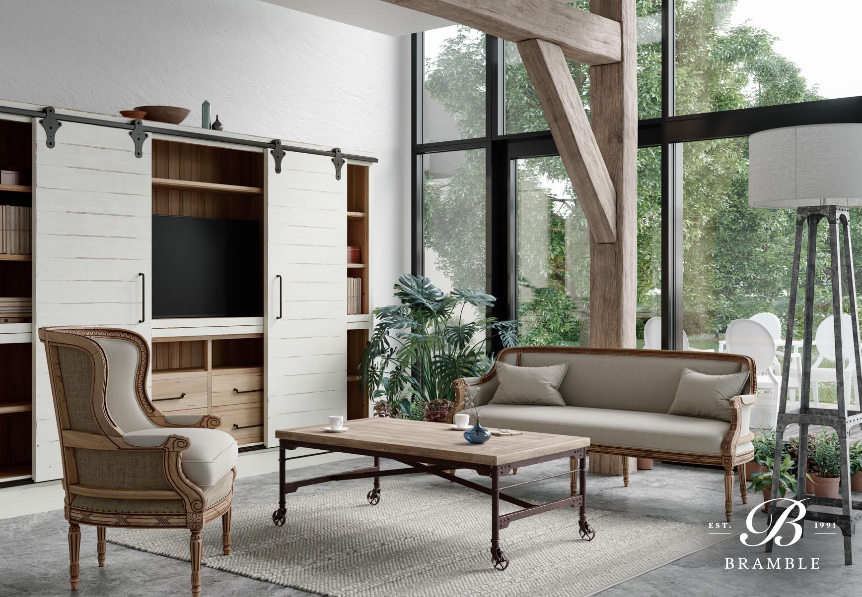 American Style Interior Mewah dengan Detail Sederhana