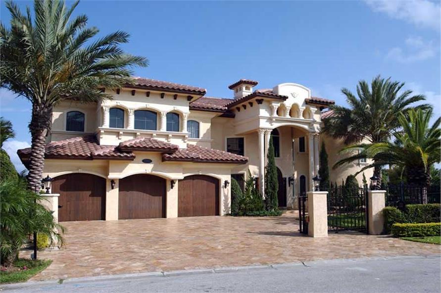 desain rumah mewah dengan fasad megah