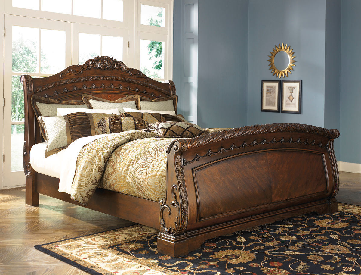 tempat tidur sleigh