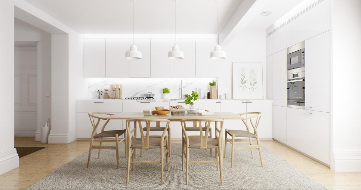 ruang makan putih