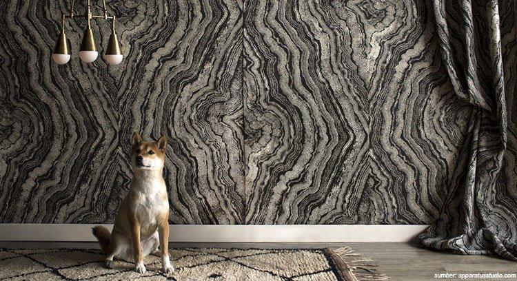 vakum wallpaper dinding