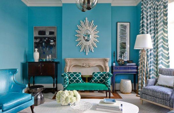 warna ruang tamu toska