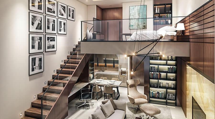 tangga mezzanine modern