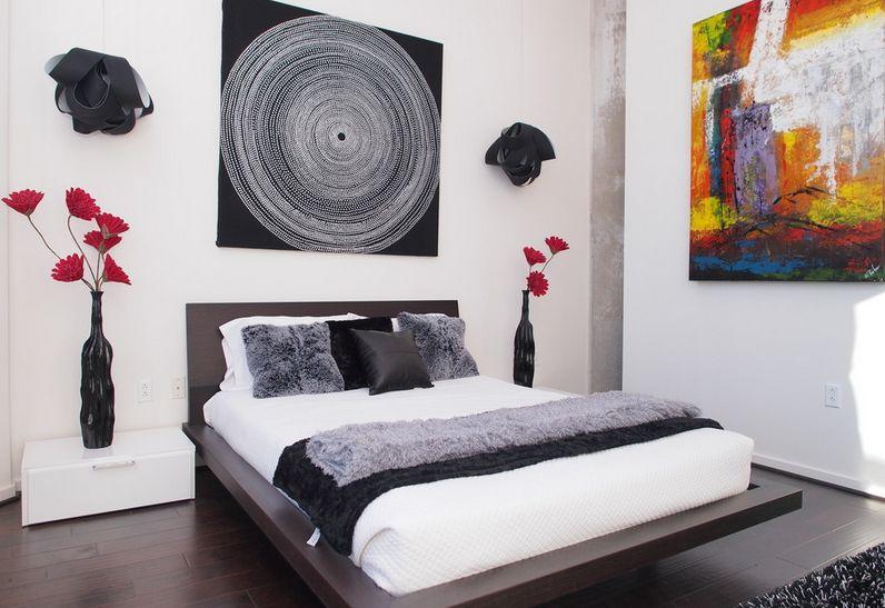 lukisan di kamar tidur