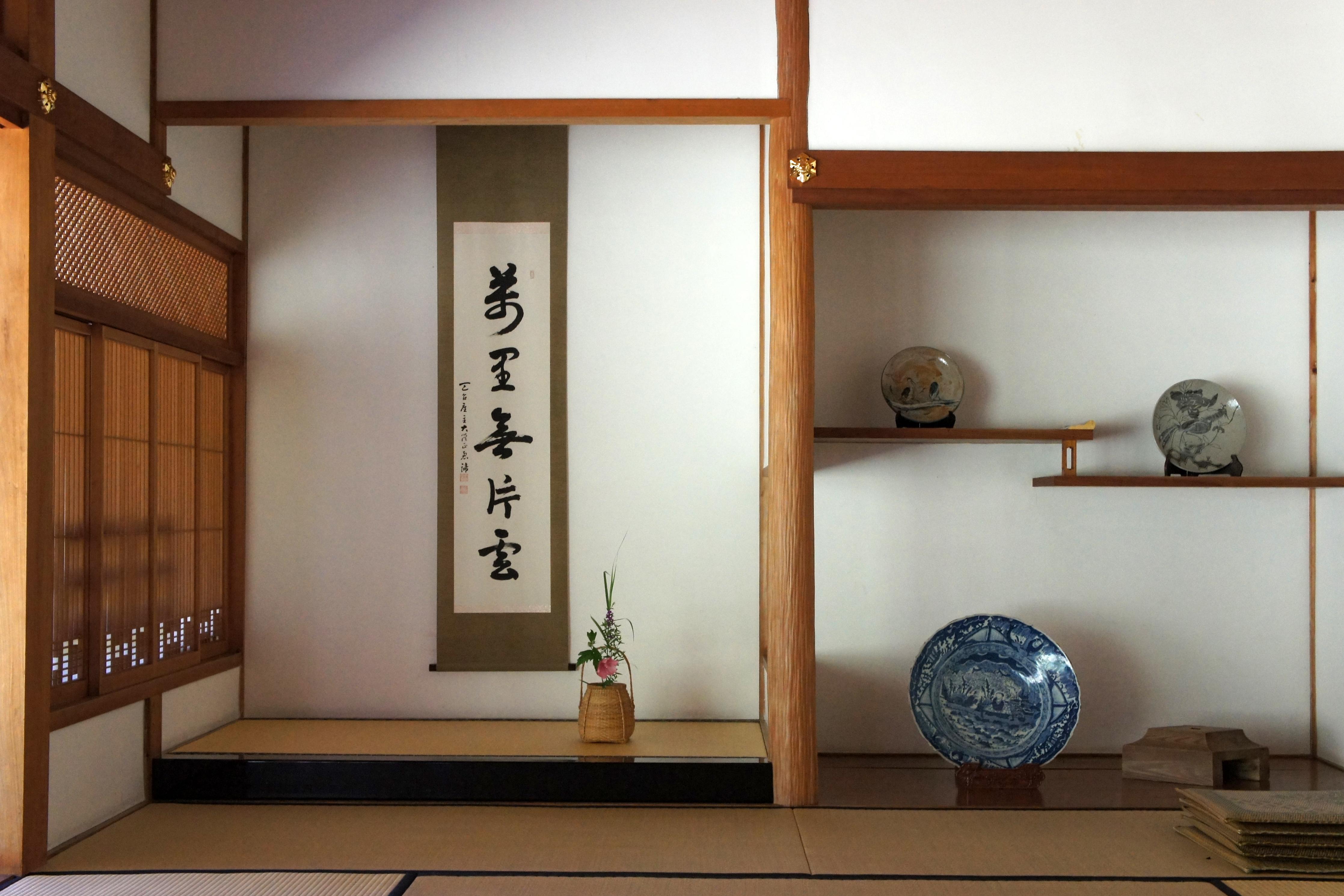 tokonama di rumah tradisional Jepang