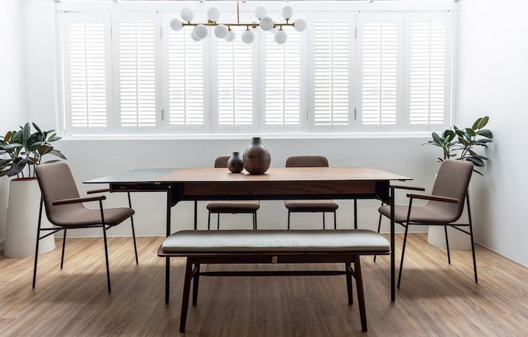 interior ruang makan kontemporer