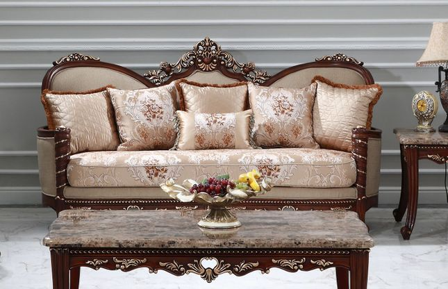 warna glamor sofa kayu klasik