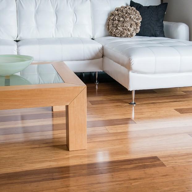 lantai bambu dengan proses buatan
