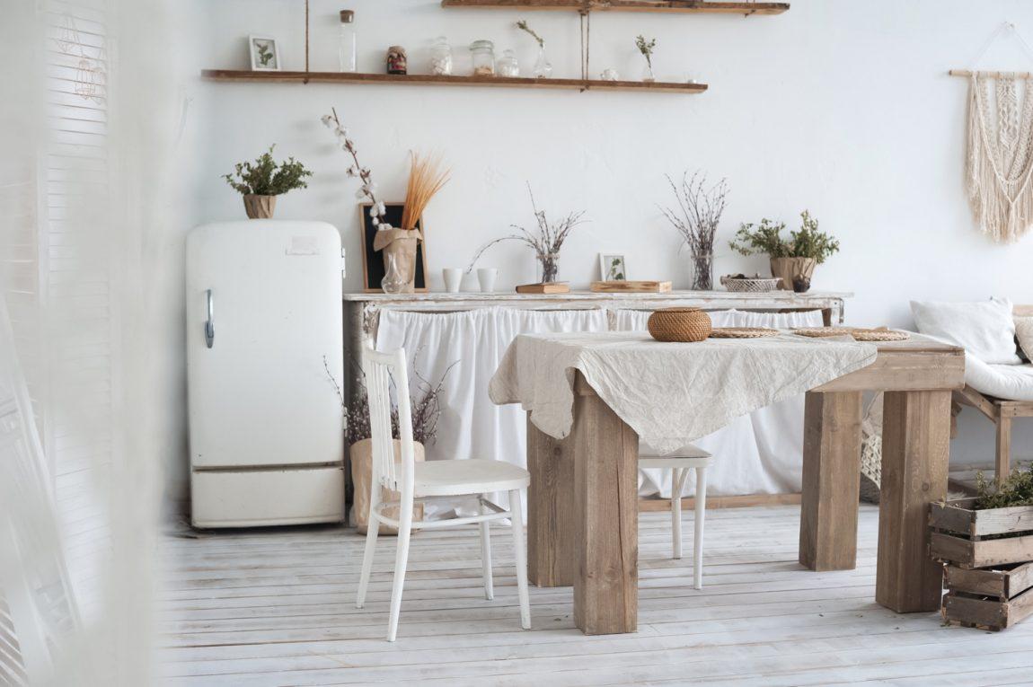 Dapur Cantik dengan Desain Shabby Chic