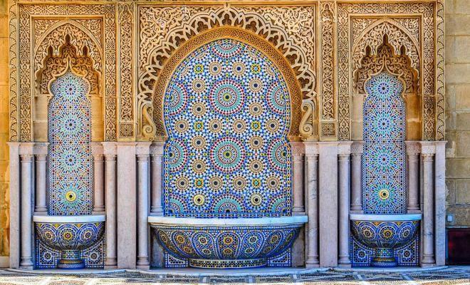 Penggunaan Zallij di arsitektur maroko - Ciri Gaya Desain Arsitektur Maroko yang Eksotis
