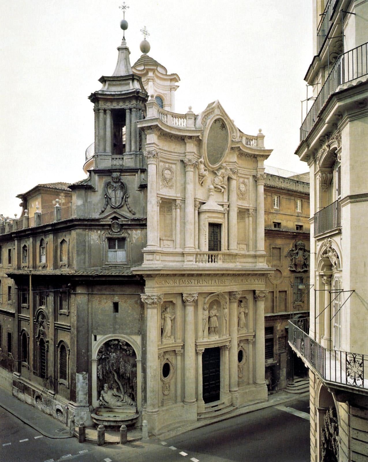 San Carlo Alle Quattro Fontane arsitektur baroque
