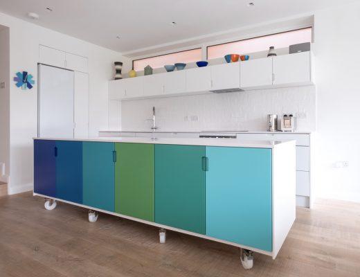 Jenis Konstruksi Furniture dengan Roda - Kitchen Island