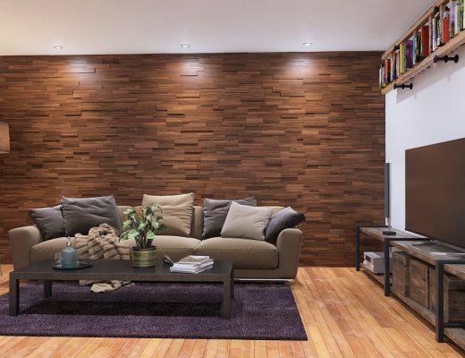 Background Dinding Kayu - Ruang Keluarga