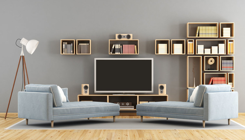Adjust the type of TV table with the area of the room