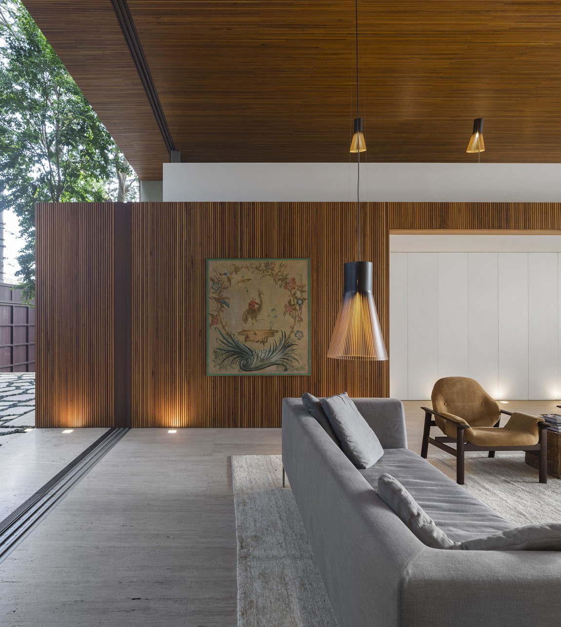 background kayu tipis yang modern