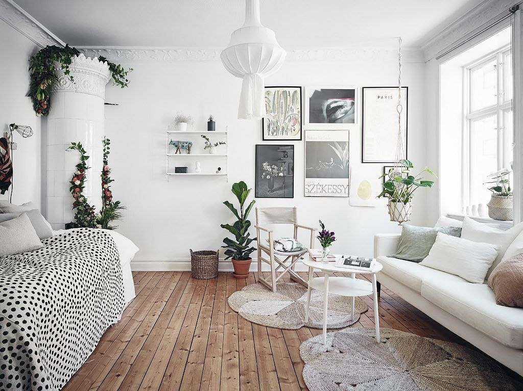 Decorate your furniture with accessories or interior plants