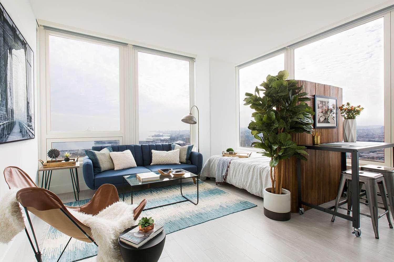 furniture apartemen studio ruang tamu 2 - Penggunaan Furniture pada Desain Interior Apartemen Studio ini, Bisa Dijadikan Inspirasi