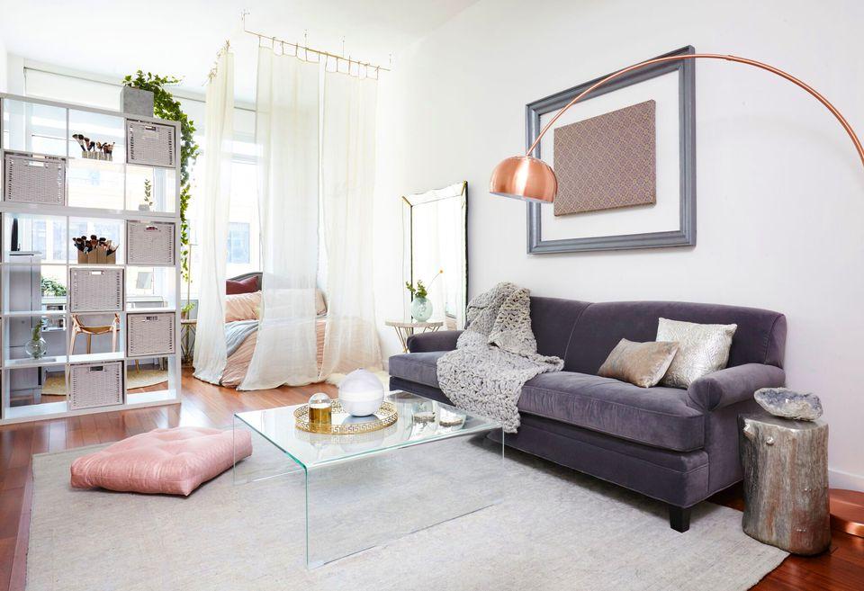 furniture apartemen studio ruang tamu - Penggunaan Furniture pada Desain Interior Apartemen Studio ini, Bisa Dijadikan Inspirasi