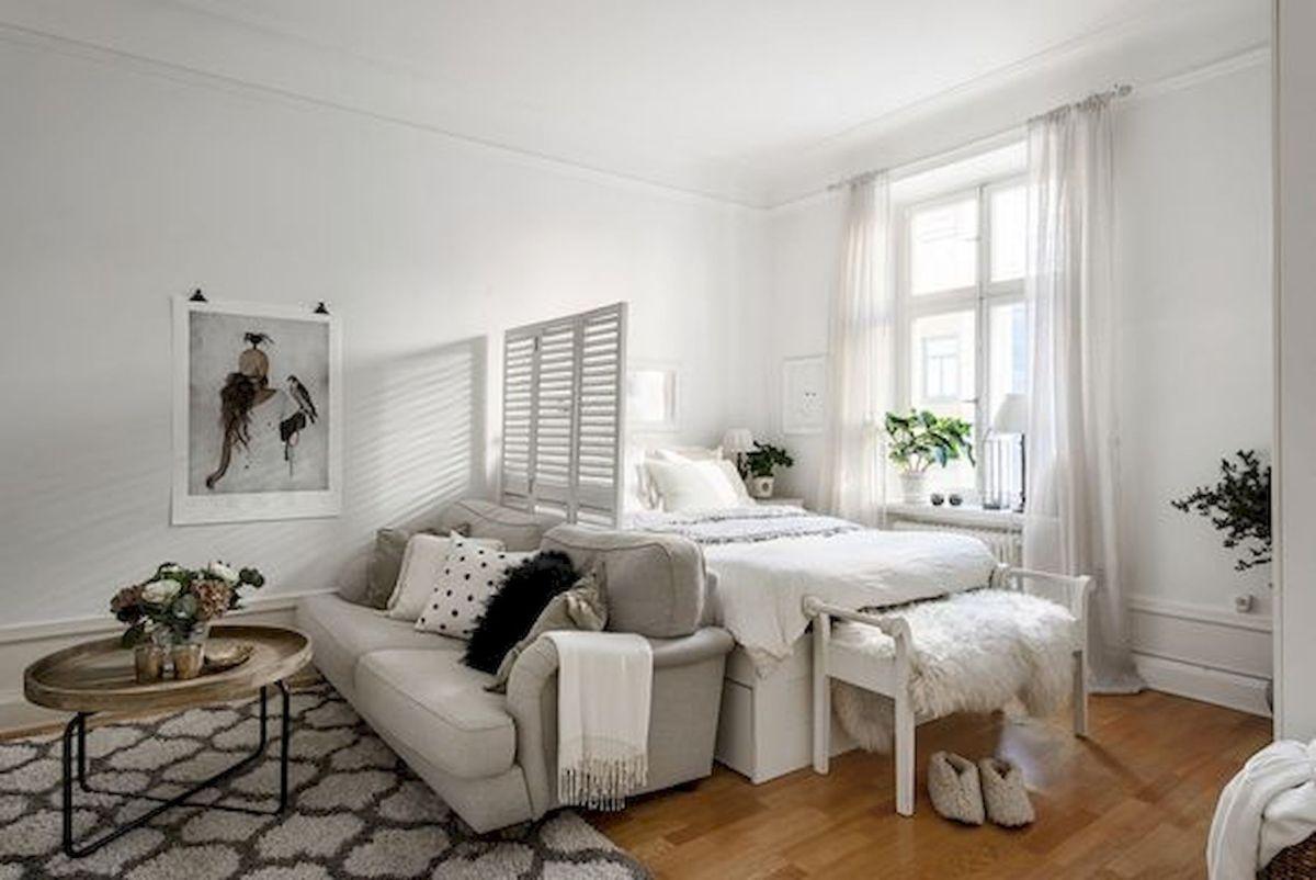 maksimalkan ruang dengan furniture yang tepat - Penggunaan Furniture pada Desain Interior Apartemen Studio ini, Bisa Dijadikan Inspirasi