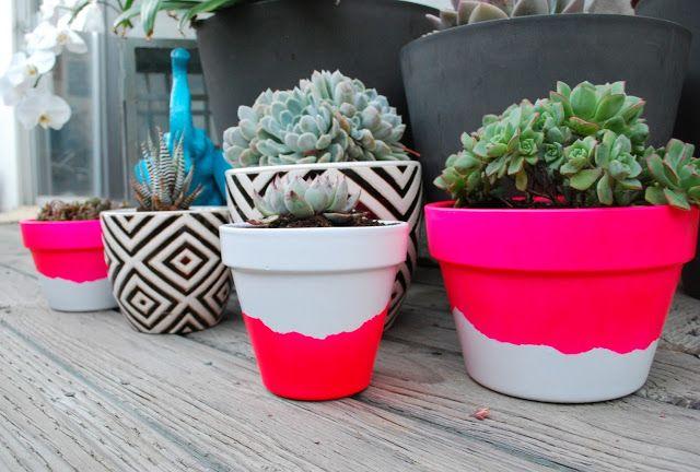 DIY tanaman indoor pot tanah liat