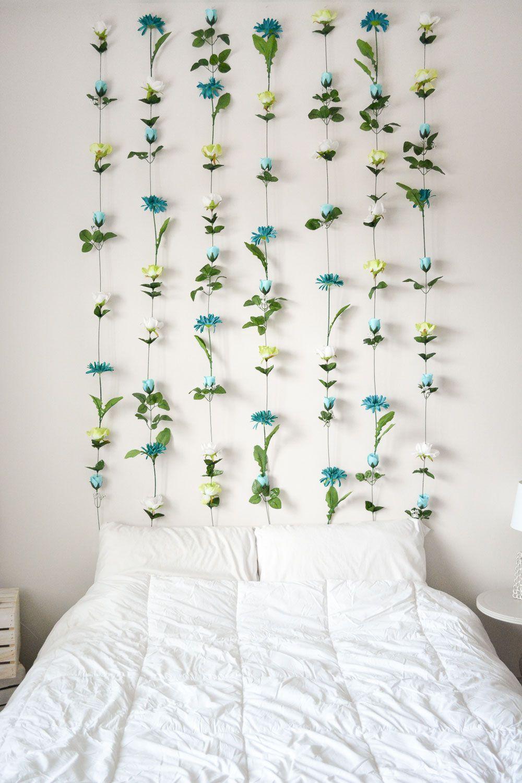 DIY floral decoration, pretty flower hanger