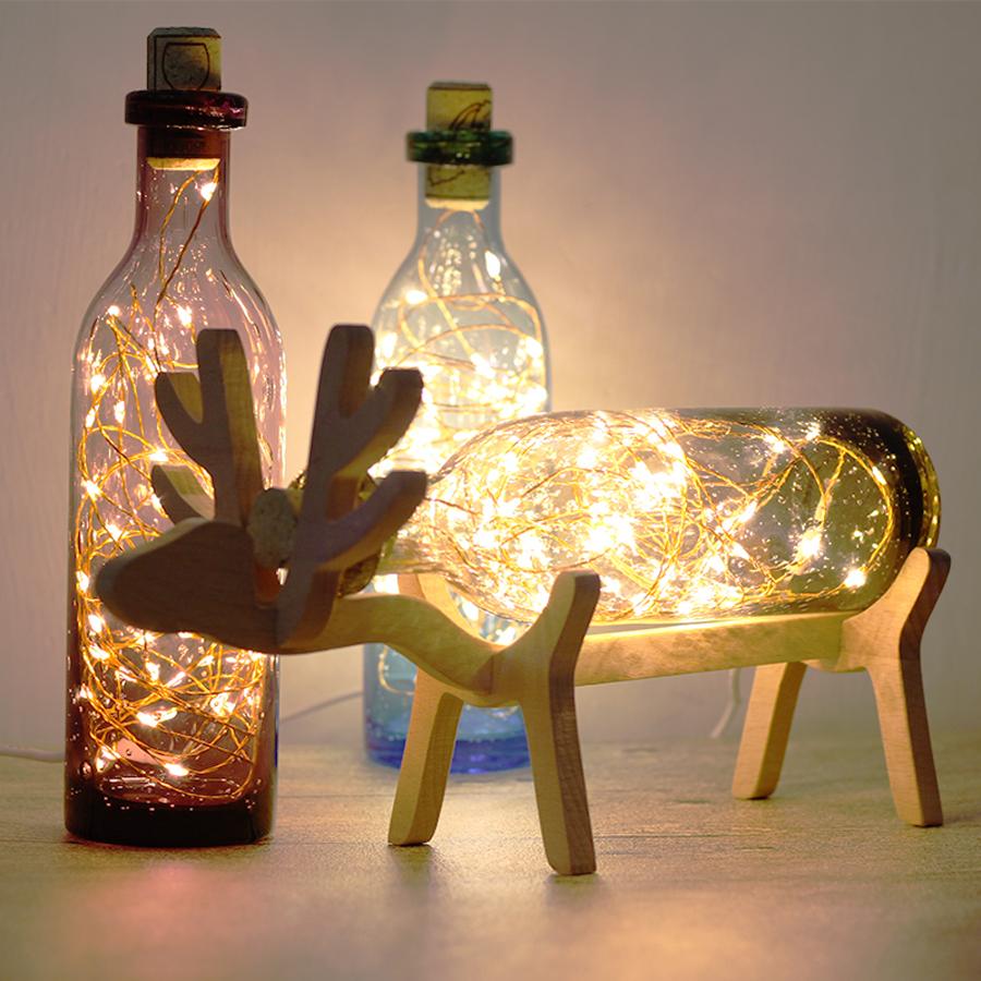 Kreasi DIY Barang Bekas lampu cantik