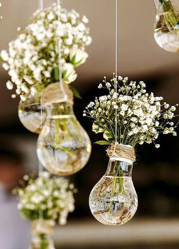 Vas bunga mini dari bohlam