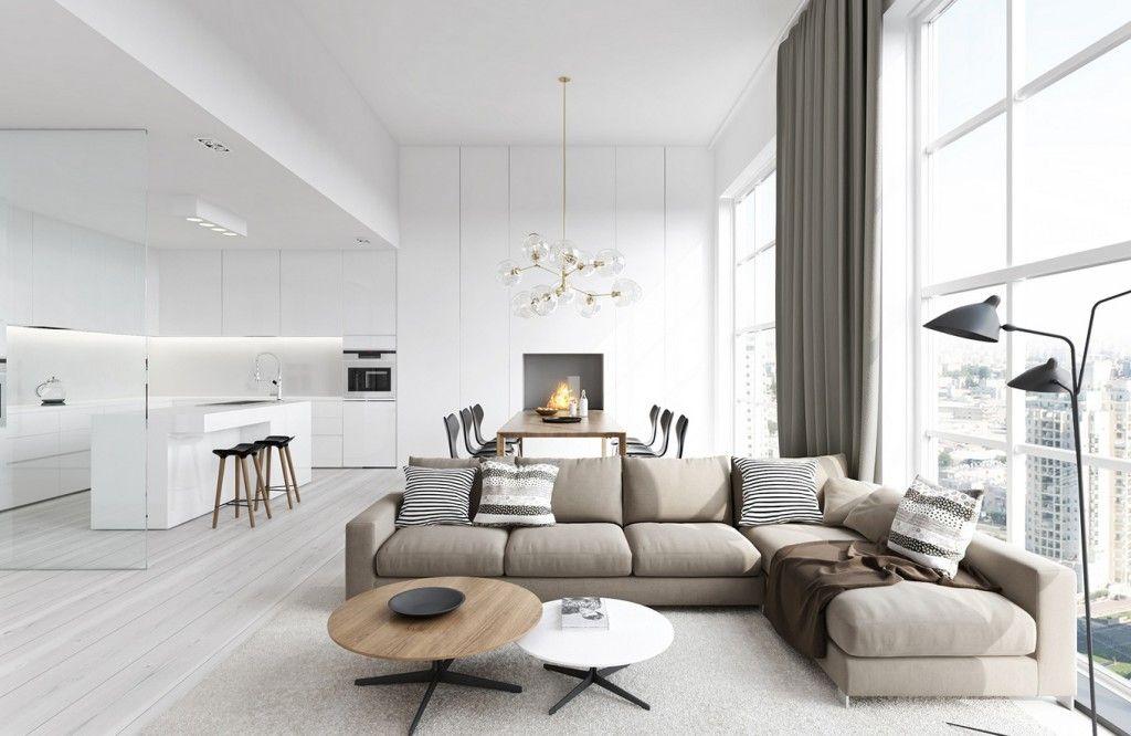 ruang tamu minimalis jendela besar