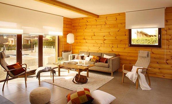 ruang tamu minimalis kayu