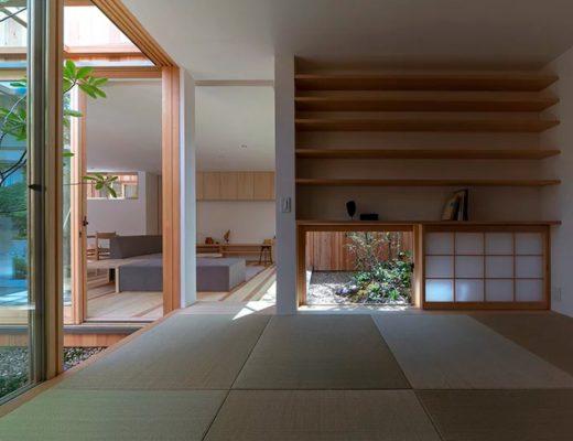 Rumah Modern Jepang yang Nyaman & Menenangkan
