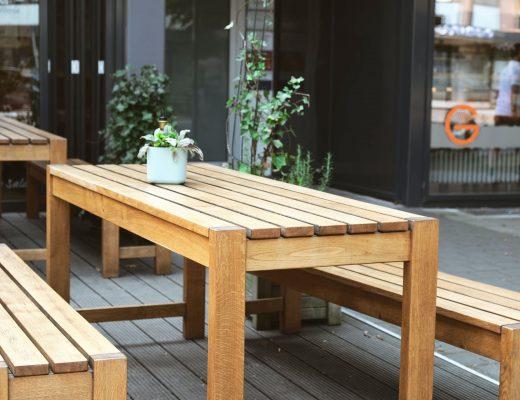 furniture meja kayu sungkai
