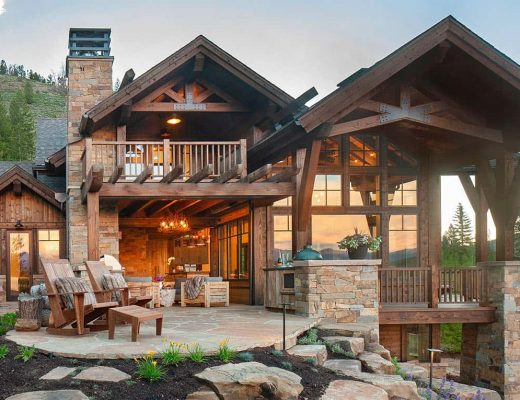 Desain Rumah Rustic Modern