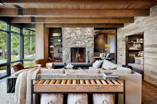 desain rumah rustic modern warna tanah