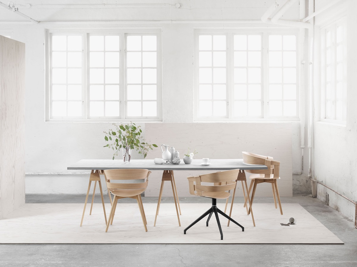 minimalist type of dining chair