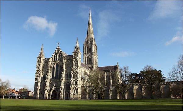 salisbury katedral bangunan gotik di dunia