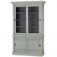 Hudson 88'' Bookcases w/ 2 Sliding Doors
